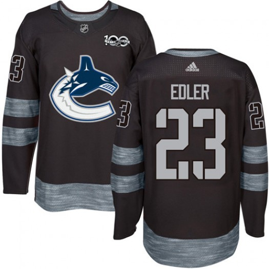 Alexander Edler Vancouver Canucks Men's Adidas Authentic Black 1917-2017 100th Anniversary Jersey