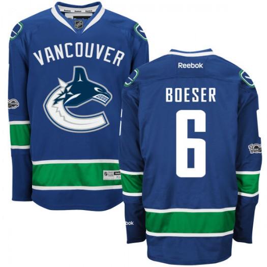 online retailer 79ec8 28fbf Brock Boeser Vancouver Canucks Men's Reebok Premier Royal Home Centennial  Patch Jersey