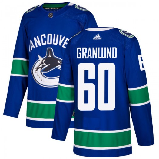 Markus Granlund Vancouver Canucks Men's Adidas Authentic Blue Jersey