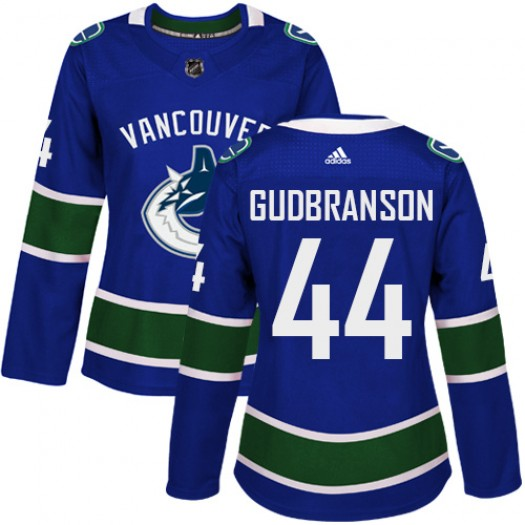 Erik Gudbranson Vancouver Canucks Women's Adidas Authentic Blue Home Jersey