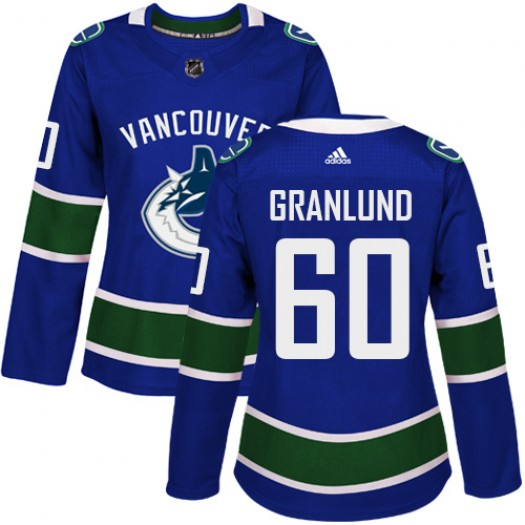 Markus Granlund Vancouver Canucks Women's Adidas Authentic Blue Home Jersey