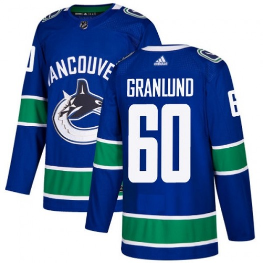 Markus Granlund Vancouver Canucks Youth Adidas Authentic Blue Home Jersey