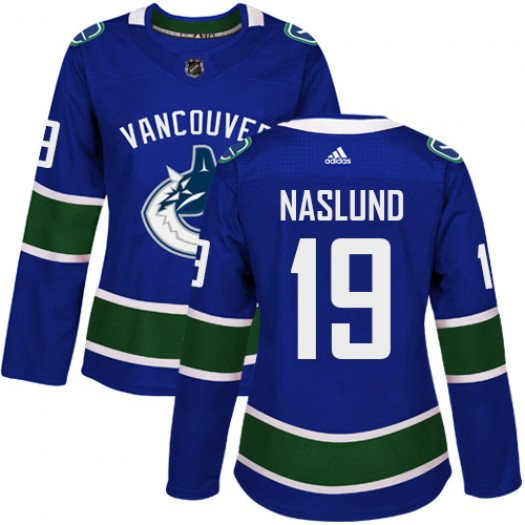 Markus Naslund Vancouver Canucks Women's Adidas Authentic Blue Home Jersey