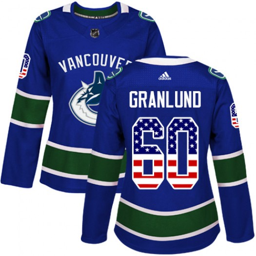 Markus Granlund Vancouver Canucks Women's Adidas Authentic Blue USA Flag Fashion Jersey