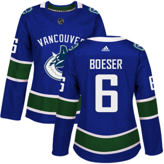 Brock Boeser Vancouver Canucks Women's Adidas Authentic Blue Home Jersey